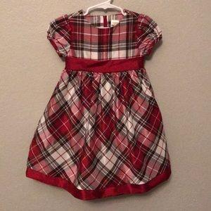 Gymboree Red Black Christmas Dress Girls 3/3T